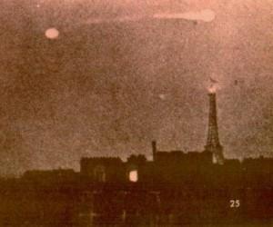 A Luminous Disk Slowly Moves Over Paris, France